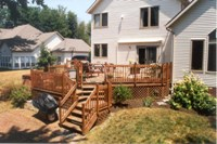 Multi level deck and patio space