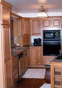 Kitchen Remodel with oak Merillat cabinets