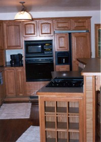 Kitchen remodel with G.E. appliances