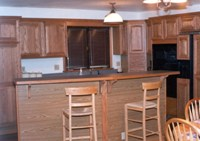 Kitchen island where a wall once stood